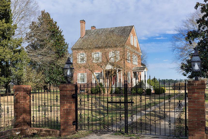 Foscue Plantation House, historic plantation house, Pollocksville, Jones County, North Carolina, USA