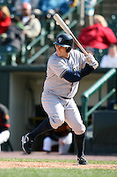 April 26, 2009:  Pinch Hitter Chris Malec (4) of the Scranton Wilkes-Barre Yankees, International League Class-AAA affiliate of the New York Yankees, during a game at the Frontier Field in Rochester, NY.  Photo by:  Mike Janes/Four Seam Images