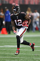 Atlanta Falcons wide receiver Mohamed Sanu #12 during an NFL football game between the Tampa Bay Buccaneers and Atlanta Falcons, Sunday, Nov. 26, 2017 in Atlanta (Photo by Michael Zito/Panini)