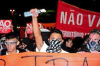 ***FOTO DE ARQUIVO***13.03.2014 - S&Atilde;O PAULO,SP,25.07.2014 - PRIS&Atilde;O DE MANIFESTANTE - O manifestante e professor Jefte Rodrigues durante a manifesta&ccedil;&atilde;o: N&atilde;o vai ter Copa.Na avenida Rebou&ccedil;as regi&atilde;o Oeste da cidade de S&atilde;o Paulo.<br /> (Foto:Kevin David/Brazil Photo Press)
