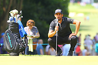 Matthieu Pavon on the 2nd green during the BMW PGA Golf Championship at Wentworth Golf Course, Wentworth Drive, Virginia Water, England on 25 May 2017. Photo by Steve McCarthy/PRiME Media Images.