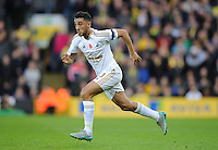 Neil Taylor of Swansea City during the Barclays Premier League match between Norwich City and Swansea City played at Carrow Road, Norwich on November 7th 2015