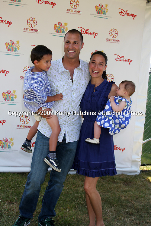 """Nigel Barker & Family arriving at the """"A Time For Heroes Celebrity Carnival"""" benefiting the Elizabeth Glaser Pediatrics AIDS Foundation at the Wadsworth Theater Grounds in Westwood , CA on June 7, 2009 .©2009 Kathy Hutchins / Hutchins Photo.."""