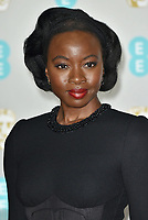 Danai Gurira<br /> The EE British Academy Film Awards 2019 held at The Royal Albert Hall, London, England, UK on February 10, 2019.<br /> CAP/PL<br /> ©Phil Loftus/Capital Pictures