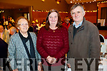 Christina O'Rourke, Noreen O'Mahony and John O'Mahony, enjoying the Causeway Senior Citizens  Christmas party at Ballyroe Heights Hotel, Tralee on Sunday last.