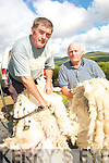 .MEN AT WORK: Joe Connor and Connie Murphy from Dromid pictured during a Sheep Shearing demonstration in Dromid on Thursday last when . the local community organised a festival to welcomed The Turas Ireland South West 2008 challenge to the region.    Copyright Kerry's Eye 2008
