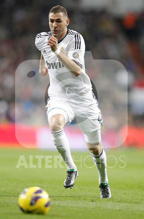 Real Madrid's Karim Benzema during La Liga Match. November 17, 2012. (ALTERPHOTOS/Alvaro Hernandez)