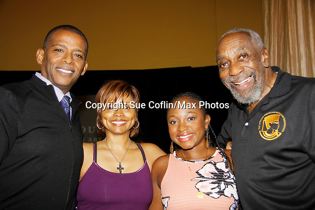 The National Black Theatre Festival with co-chairs All My Children's Debbi Morgan and Darnell Williams chat with Naturi Naughton and actor Bill Cobbs at the press conference with a week of plays, workshops and much more with an opening night gala of dinner, awards presentation followed by Black Stars of the Great White Way followed by a celebrity reception. It is an International Celebration and Reunion of Spirit. (Photo by Sue Coflin/Max Photos)