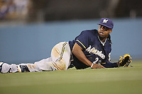 05/31/12 Los Angeles, CA: Milwaukee Brewers second baseman Rickie Weeks #23 during an MLB gamebetween the Milwaukee Brewers and the Los Angeles Dodgers played at Dodger Stadium. The Brewers defeated the Dodgers 6-2.