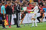 05.10.2019, BayArena, Leverkusen, GER, 1. FBL, Bayer 04 Leverkusen vs. RB Leipzig,<br />  <br /> DFL regulations prohibit any use of photographs as image sequences and/or quasi-video<br /> <br /> im Bild / picture shows: <br /> Timo Werner (RB Leipzig #11),  wird gegen Christopher Nkunku (RB Leipzig #18), gewechselt<br /> <br /> Foto © nordphoto / Meuter