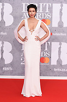 Renee Puente<br /> arriving for the BRIT Awards 2019 at the O2 Arena, London<br /> <br /> ©Ash Knotek  D3482  20/02/2019<br /> <br /> *images for editorial use only*
