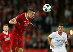 Dejan Loveren of Liverpool during the Champions League Group E match at the Anfield Stadium, Liverpool. Picture date 13th September 2017. Picture credit should read: Simon Bellis/Sportimage