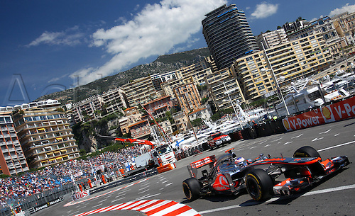 24.05.2012.Monte Carlo, Monaco.  British Formula One driver Jenson Button of McLaren Mercedes drives his car through the harbour chicane during the first practice session at the F1 race track of Monte Carlo, 24 May 2012. The Grand Prix will take place on 27 May.