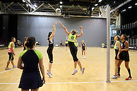 19.10.2016 Silver Ferns in action during the Silver Ferns Training in Invercargill. Mandatory Photo Credit ©Michael Bradley.