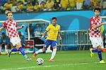 Neymar (BRA), <br /> JUNE 12, 2014 - Football /Soccer : <br /> 2014 FIFA World Cup Brazil <br /> Group Match -Group A- <br /> between Brazil 3-1 Croatia <br /> at Arena de Sao Paulo, Sao Paulo, Brazil. <br /> (Photo by YUTAKA/AFLO SPORT)