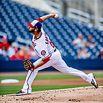 26 February 2019: Washington Nationals pitcher Anibal Sanchez on the mound during a Spring Training game against the St. Louis Cardinals at the Ballpark of the Palm Beaches in West Palm Beach, Florida. The Nationals fell to the visiting Cardinals 6-1 in Grapefruit League play. Mandatory Credit: Ed Wolfstein Photo *** RAW (NEF) Image File Available ***