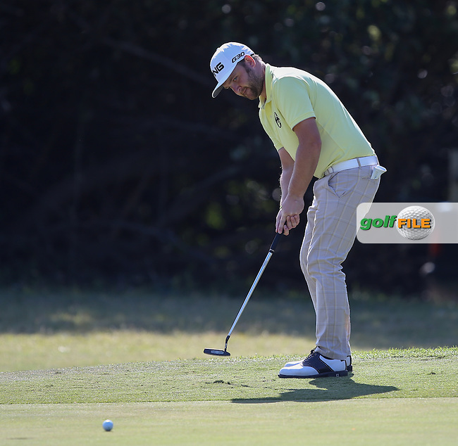 Andy Sullivan (ENG) putting on the 16th during Round One of the Africa Open 2015 at the East London Golf Club, East London, Eastern Cape, South Africa. Picture:  David Lloyd / www.golffile.ie. 05/03/2015