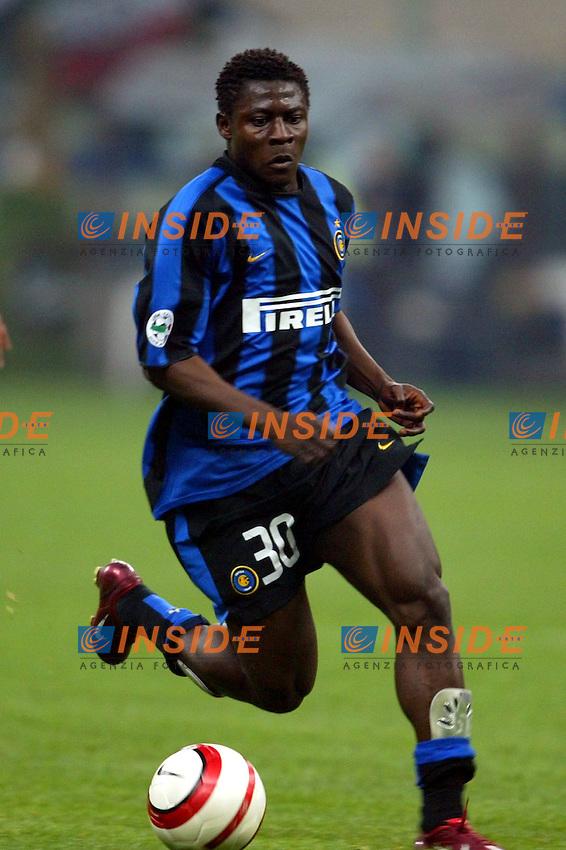Milano 4/4/2004 Campionato Italiano Serie A 28a Giornata - Matchday 28<br /> Inter Juventus 3-2 <br /> Obafeme Martins (Inter)<br /> <br /> Foto Andrea Staccioli Insidefoto