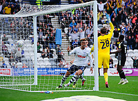 Preston North End's Callum Robinson celebrates scoring his side's second goal <br /> <br /> Photographer Chris Vaughan/CameraSport<br /> <br /> The EFL Sky Bet Championship - Preston North End v Reading - Saturday 15th September 2018 - Deepdale - Preston<br /> <br /> World Copyright &copy; 2018 CameraSport. All rights reserved. 43 Linden Ave. Countesthorpe. Leicester. England. LE8 5PG - Tel: +44 (0) 116 277 4147 - admin@camerasport.com - www.camerasport.com