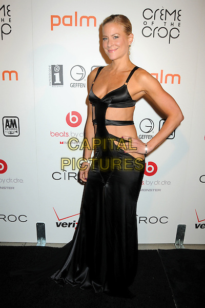 "BRITTANY DANIEL .Interscope Geffen A&M Records 4th Annual ""Creme of the Crop"" Post BET Awards 2010 Celebration held at Mr. Chow Restaurant,  Beverly Hills, California, USA, 27th June 2010..full length black cut out side dress  long maxi dress hand on hip .CAP/ADM/BP.©Byron Purvis/AdMedia/Capital Pictures."