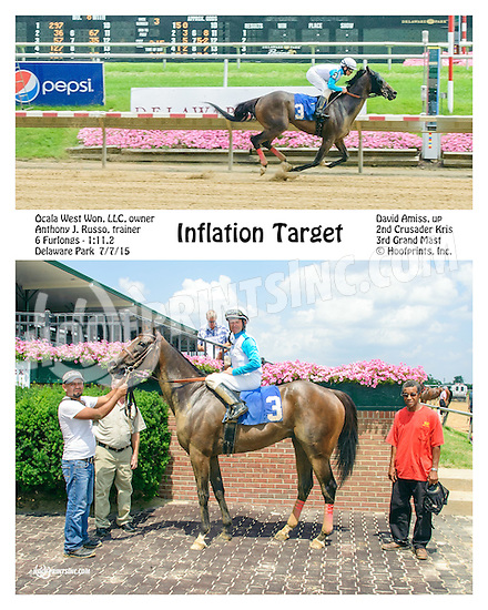 Inflation Target winning at Delaware Park on 7/7/15