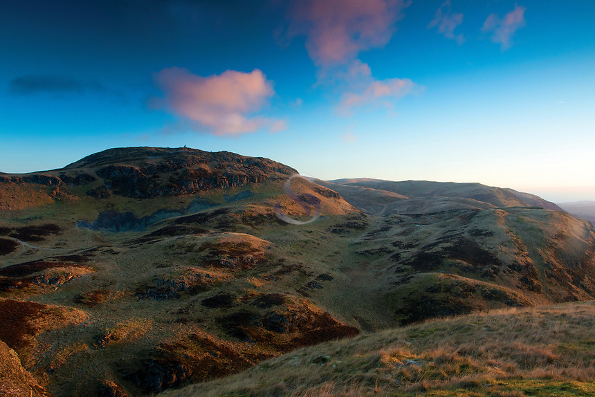 Dumyat from Castle Law at dawn, the Ochil Hills, Stirlingshire