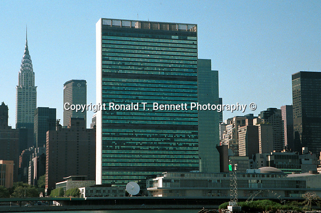United Nations New York NY with Empire State Building,  New York NY, Manhattan, United Nations, empire state building,  Big Apple, World Trade Center, Fine Art Photography by Ron Bennett, Fine Art, Fine Art photography, Art Photography, Copyright RonBennettPhotography.com ©