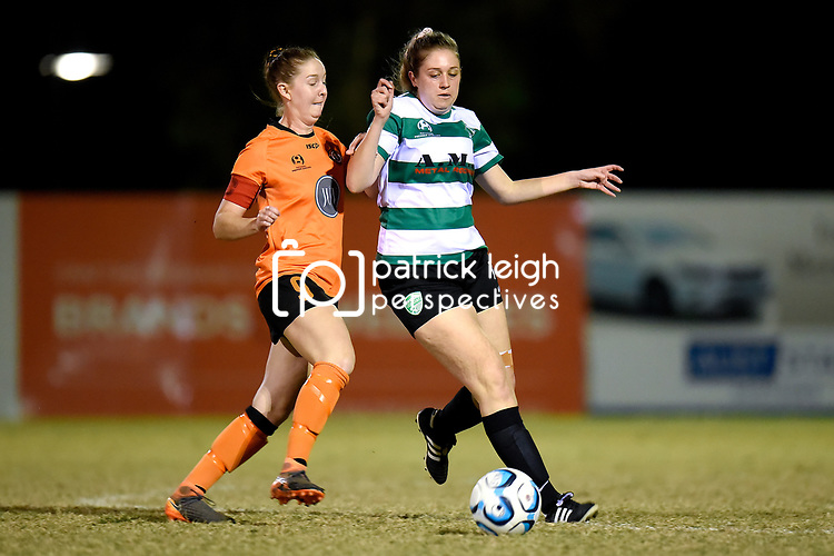 BRISBANE, AUSTRALIA - JULY 27:  during the NPL Queensland Senior Womens Round 22 match between Eastern Suburbs FC and Souths United at Heath Park on July 27, 2019 in Brisbane, Australia. (Photo by Patrick Kearney)