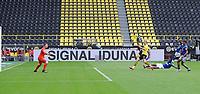 16th May 2020, Signal Iduna Park, Dortmund, Germany; Bundesliga football, Borussia Dortmund versus FC Schalke; BVB's Erling Haland shoots and scores for 1-0