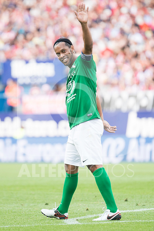 World Legend's Ronaldinho during friendly match to farewell  to Vicente Calderon Stadium in Madrid, May 28, 2017. Spain.<br /> (ALTERPHOTOS/BorjaB.Hojas)