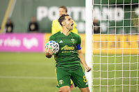 PORTLAND, OR - MARCH 01: Diego Valeri #8 of the Portland Timbers celebrates scoring a penalty kick goal against Minnesota United during a game between Minnesota United FC and Portland Timbers at Providence Park on March 01, 2020 in Portland, Oregon.