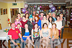 21 WISHES: Katelyn O'Reilly, Killarney (seated centre) who celebrated her 21st birthday, with family and friends in the Old Killarney Inn on Friday night last.