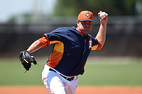 Houston Astros pitcher Joe Thatcher (54) during a minor league spring training game against the Atlanta Braves on March 29, 2015 at the Osceola County Stadium Complex in Kissimmee, Florida.  (Mike Janes/Four Seam Images)