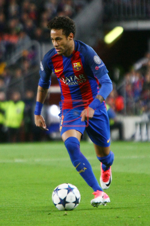 UEFA Champions League 2016/2017.<br /> Quarter-finals 2nd leg.<br /> FC Barcelona vs Juventus Football Club: 0-0.<br /> Neymar Jr.