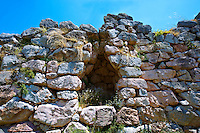 Ancient corbel arch gate in the walls of Tiryns (  or ) Mycenaean city archaeological site,  Peloponnesos, Greece. A UNESCO World Heritage Site