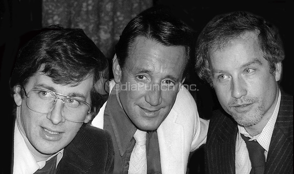Steven Spielberg, Roy Scheider and Richard Dreyfuss June 1975<br />