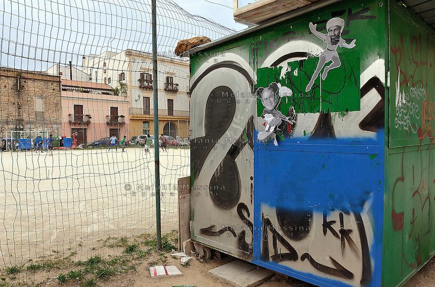 Piazza Magione nel quartiere Kalsa di Palermo. <br /> Palermo: Magione square in Kalsa district.
