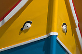 Details on Luzzus, Maltese fishing boats