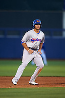 Midland RockHounds first baseman Matt Olson (21) leads off second during a game against the Tulsa Drillers on June 2, 2015 at Oneok Field in Tulsa, Oklahoma.  Midland defeated Tulsa 6-5.  (Mike Janes/Four Seam Images)