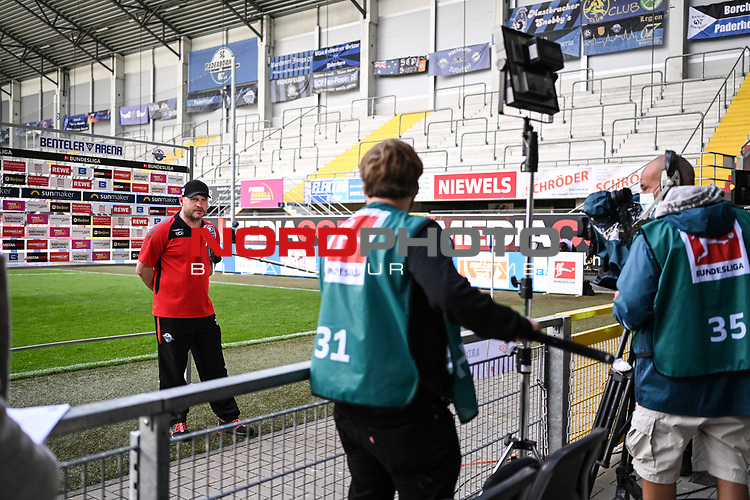 Trainer Steffen Baumgart (SC Paderborn) nach dem Spiel im Interview.<br />