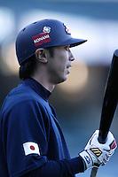 Shinya Miyamoto of Japan during World Baseball Championship at Angel Stadium in Anaheim,California on March 15, 2006. Photo by Larry Goren/Four Seam Images