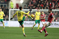 Josh Murphy of Norwich City brings the ball down during Bristol City vs Norwich City, Sky Bet EFL Championship Football at Ashton Gate on 13th January 2018