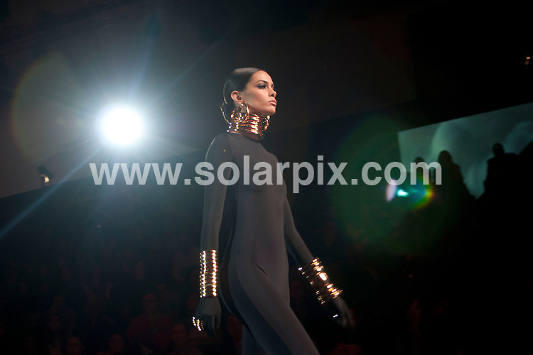 **ALL ROUND PICTURES FROM SOLARPIX.COM**                                             **WORLDWIDE SYNDICATION RIGHTS EXCEPT SPAIN - NO SYNDICATION IN SPAIN**                                                                                  03/02/2011. Madrid.Spain. MBFWM. Mercedes Benz Fashion week Madrid. Aristocracy  Show.                  .This pic:   Aristocracy  Show                                                                                      JOB REF:    14423    DMS Diaz  DATE: 03.02.12                                                           **MUST CREDIT SOLARPIX.COM OR DOUBLE FEE WILL BE CHARGED**                                                                      **MUST AGREE FEE BEFORE ONLINE USAGE**                               **CALL US ON: +34 952 811 768 or LOW RATE FROM UK 0844 617 7637**