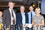 "Martin and Lorna Enright receives a Special Award for their work as the Town Park Gardeners from Graham Spring (Mayor of Tralee) and Gda Aidan O""Mahoney at the Tralee Tidy Towns awards in the Rose Hotel on Tuesday night."