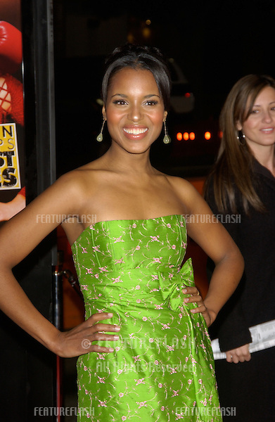 Actress KERRY WASHINGTON at the world premiere in Hollywood of her new movie Against the Ropes..February 11, 2004