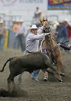 26 Aug 2010:  Matt Shiozawa scored a time of 10.3 in the slack Tie Down Roping competition at the Kitsap County Stampede Wrangle Million Dollar PRCA Silver Rodeo Tour Bremerton, Washington.