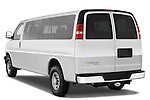 Rear three quarter view of a 2008 chevrolet express 3500 passenger van