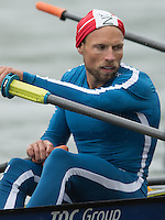 Lucerne, SWITZERLAND<br /> <br /> DEN LM2X Ramus QUIST, 2016 European Olympic Qualifying Regatta, Lake Rotsee.<br /> <br /> Monday  23/05/2016<br /> <br /> [Mandatory Credit; Peter SPURRIER/Intersport-images]
