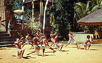Bali, Indonesia. Performance of the Kris or Trance Dance.