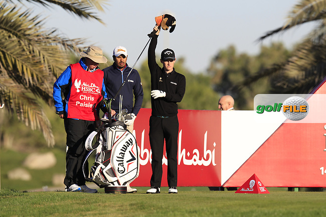 Chris Paisley (ENG) prepares to tee off the 14th tee during Friday's Round 2 of the Abu Dhabi HSBC Golf Championship at Abu Dhabi Golf Club, 18th January 2013 (Photo Eoin Clarke/www.golffile.ie)